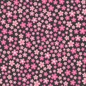 平面设计无缝模式有粉红色花朵的插图 — 图库矢量图片