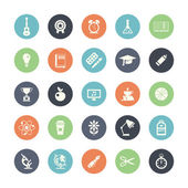 Set of flat design icons with long shadows — Stock Vector