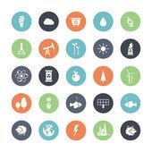 Modern flat design conceptual ecological icons — Vecteur