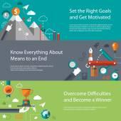 Set of modern flat design business infographics templates — Stock Vector