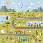 Nowoczesny projekt płaski krajobraz pojęciowy ilustracja z informacji g — Wektor stockowy