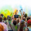 People at the Holi festival of colors — Stock Photo #53668593