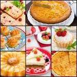 Collage Baking Cake — Stock Photo #56123659