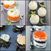 Collage appetizer — Stock Photo