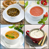 Collage soup — Stock Photo