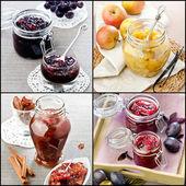 Collage-homemade jam — Stock Photo