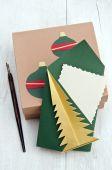 Christmas card congratulation decor — Stock Photo