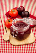 Jam from plums and tomatoes — Zdjęcie stockowe