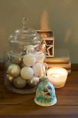 Christmas decoration with candles — Zdjęcie stockowe