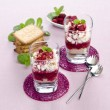 Cottage cheese with raspberries — Stock Photo #59518239