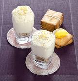 Mousse with lemon — Stock Photo