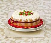 Summer fruit cake tiramisu — Stok fotoğraf