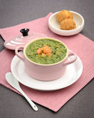 Green soup puree vegetables — Stock Photo