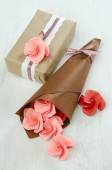Origami paper roses — Stock Photo