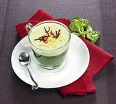 Cappuccino green wasabi — Stock Photo