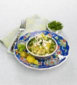 Cous cous with feta — 图库照片