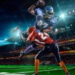 American football player — Stock Photo #54457893