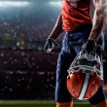 American football sportsman player — Stock Photo #54458033