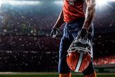 American football sportsman player — Stock Photo
