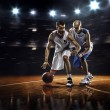 Two basketball players in action — Stock Photo #58883943