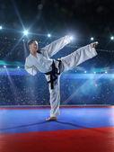 Professional female karate fighter — Foto Stock