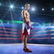 Professionl boxer is standing on the ring — Stock Photo #60036091