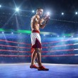 Professionl boxer is standing on the ring — Stock Photo #60036221