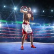 Professionl boxer is standing on the ring — Stock Photo #60036295