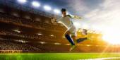 Soccer player in action — Stock Photo