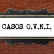 Casos o.v.n.i - file cabinet label — Stock Photo #60251631