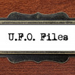 Ufo files - file cabinet label — Stock Photo #60252101