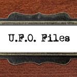 Ufo files - file cabinet label — Stock Photo #60252101
