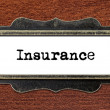 Insurance - file cabinet label — Stock Photo #60260463
