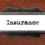 Insurance - file cabinet label — Stock Photo #60260463