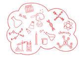 Science doodles vector set — Stock Vector