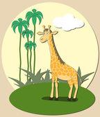 Giraff — Stockvektor