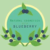 Blueberries label. — Stock Vector