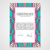 平面设计模板文档用手画装饰 — 图库矢量图片