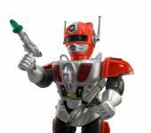 Silver toy robot closeup — Stock Photo