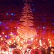 Christmas tree and electric garland. — Stock Photo #60870459