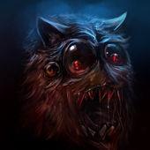 Dessin animé de monstre poilu