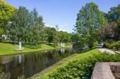 A view of Kronvalda park in Riga — Stock Photo