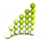 Successful growth bar sphere — Stock Photo