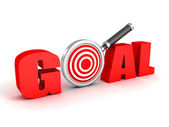 3d word GOAL with target — Stock Photo