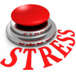 STRESS word red push button — Stock Photo #53736049