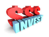 INVEST concept word — Stock Photo