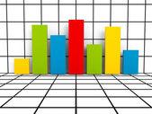 красочные финансовых линейчатая диаграмма диаграмма — Стоковое фото