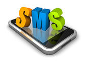 Smart  phone with SMS word — Stock Photo