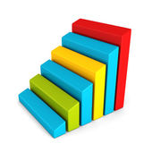 Glossy finance bar chart diagram of business achivement — Stock Photo