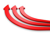 Three red arrows way forward — Stock Photo